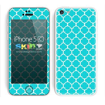 Morocan Pattern Turquoise and White Skin For The iPhone 5c