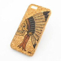 PRINTED CORK CASE Snap On Cover skin for APPLE IPHONE 5 / 5S - CHIEF INDIAN AZTEC SKULL sugar tribal native ethnic american mayan aztec