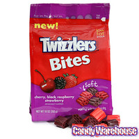 Twizzlers Licorice Bites - Cherry, Black Raspberry and Strawberry: 10-Ounce Bag