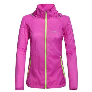 Women Outdoor Sport Summer Sun-protective Ulter-thin Quick Dry Skin Jacket Hiking Camping Rain Coat Chaquetas Jaqueta