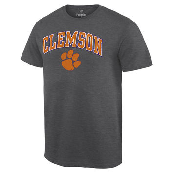Clemson Tigers Fanatics Branded Campus T-Shirt - Charcoal
