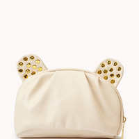 Bolt Studded Faux Leather Cosmetic Bag | FOREVER 21 - 1050760395
