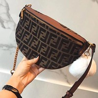 FENDI Autumn Winter Fashionable Women Waist Bag Shoulder Bag Crossbody Satchel