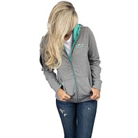 Preptec Zip Hoodie in Seafoam by Lauren James - FINAL SALE