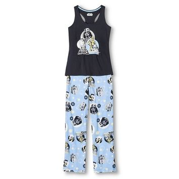 Luke & Lea Jersey Knit pajama Set -Star Wars Grey