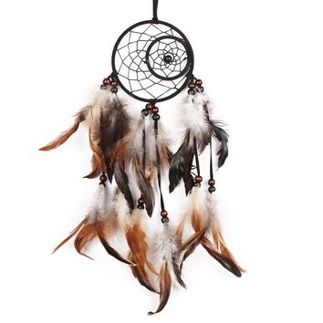 Newest India Styles Handmade Dream Catcher With Feathers Car Wall Hanging Decoration Gift Room Decor Dreamcatcher Free Shipping