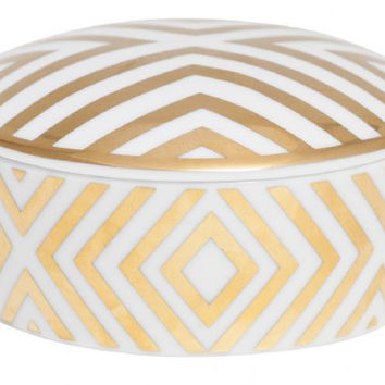 General Eclectic Gold Trinket Box