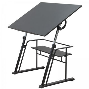 "Zenith Drafting Table (Black) (32.5""H x 42""W x 30""D)"