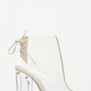 Transparent Peep Toe Heels @ Cicihot. Booties spell style, so if you want to show what you're made of, pick up a pair. Have fun experimenting with all we have to offer!