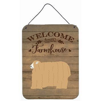 Lincoln Longwool Sheep Welcome Wall or Door Hanging Prints CK6915DS1216