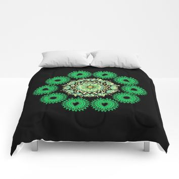 Anahata Flower in the Night Comforters by Azima