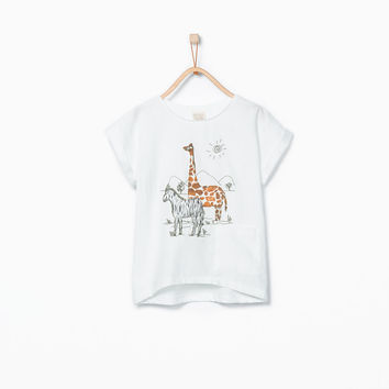 ANIMAL EMBROIDERY T-SHIRT