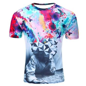 New Galaxy Space All Over Print T-Shirt - Men's Crew Neck T-Shirt