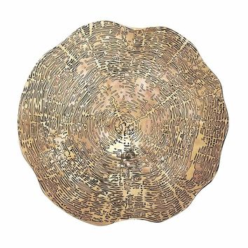 Timber Placemats in Gold - Set Of 4