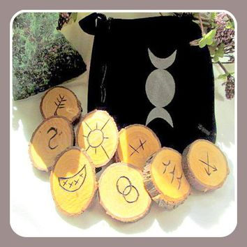 Witches' Wooden Rune Set