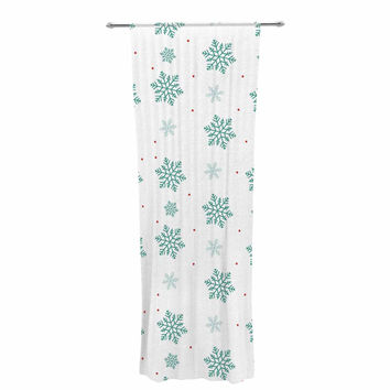 "Louise ""Snow"" Pastel White Decorative Sheer Curtain"