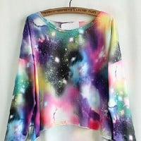 Galaxy Fancy Purple Painting T-Shirt [5009]