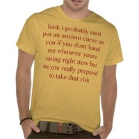 get snacks tee shirt from Zazzle.com