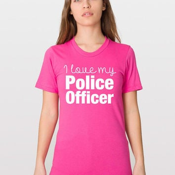 Thin Blue Line - LEOW - Love My Police Officer - Police Bride - Police Wedding - Law Enforcement - Police Gift - Police Mom - Deputy Wife