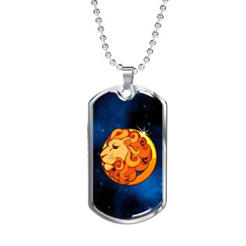Zodiac Sign Leo - Luxury Dog Tag Necklace
