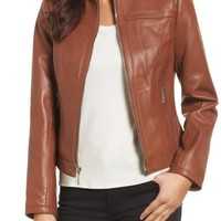 MICHAEL Michael Kors Leather Racer Jacket | Nordstrom