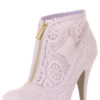 All shoes > LACE THE DEVIL HEEL IN LILAC