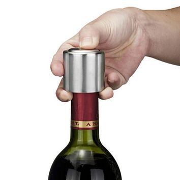 Stainless Steel Vacuum Sealed Red Wine Storage Bottle Stopper Plug Bottle Cap Opener Wine tool