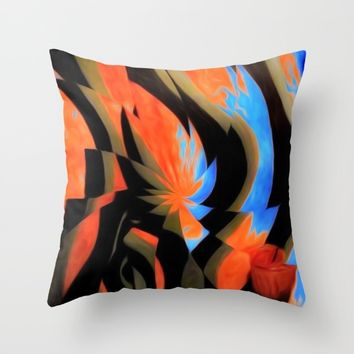 TURQ OR Throw Pillow by violajohnsonriley