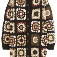 Rosetta Getty - Crocheted wool-blend cardigan