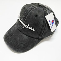 Champion Embroidery Sports Sun Hat Baseball Cap Hat Black