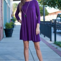 I Chic Therefore I Am Dress, Purple