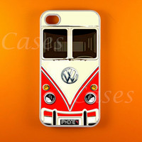 Iphone 4 Case - VW Minibus Red Iphone Case,Iphone 4s Case