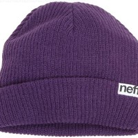 neff Men's Fold Beanie, Purple, One Size