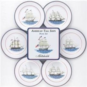 MOTTAHEDEH American Ships Picnic Plates-Set of 6