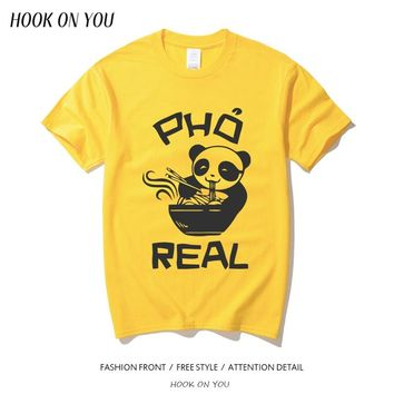 Pho Panda T Shirt Food Gift Funny T-shirts Foodie Noodle Bowl Mens Tshirt Womens Graphic Tees Asian Vietnamese Art Panda Bear