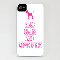 Keep Calm and Love PINK iPhone Case by Ian Layne | Society6