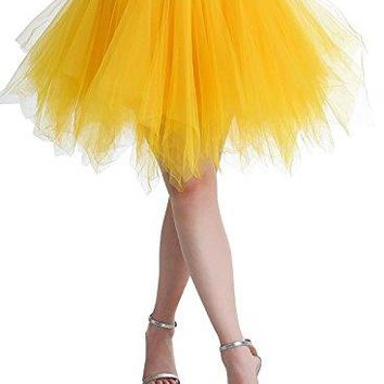 BIFINI Adult Women 80s Tutu Skirt Layered Tulle Petticoat Halloween Tutu