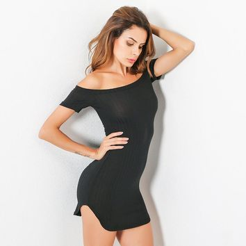 Slim Ruffle One Piece Dress [11751731855]