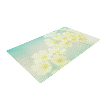 "Monika Strigel ""Happy Spring"" Yellow Teal Woven Area Rug"
