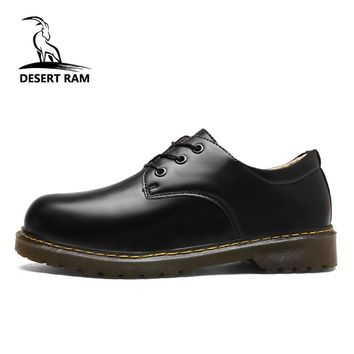 DESERT RAM Brand Men's Boots Mens Doc Martens Shoes Men Casual Dr Martins Boots Winter Retro Footwear Black Fashion Dress Shoe