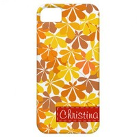 Chestnut autumn leaves iPhone 5 Case iPhone 5 Case from Zazzle.com