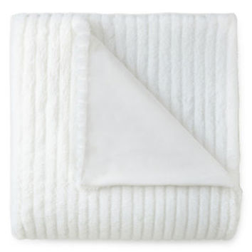 JCPenney Home™ Faux-Rabbit-Fur Throw