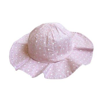 CUPUP9G Summer Cotton Bucket Hat Toddler Children Girls Brim Beach Hat With Wide Brim Kids Pink Sun Hat