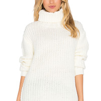 MINKPINK Another Night Turtleneck in Cream