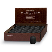 Votive Candles - 36/box | Black