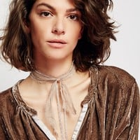 Free People Valentina Chained Scarf Necklace