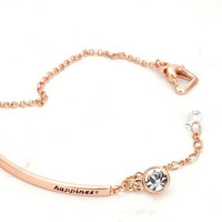 Top Quality OL Style CZ  Rose Gold Plated Bracelet Jewelry   Austrian Crystal-03130