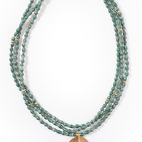 Large Leaf Necklace in Forest by Akola Project