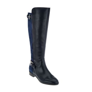 Marc Fisher Damsel Wide Calf Navy Tall Shaft Boots
