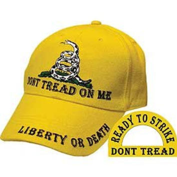 Don't Tread On Me Liberty or Death Hat - Veteran Owned Business